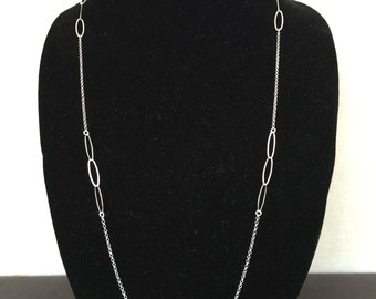 Long Oval Link Necklace