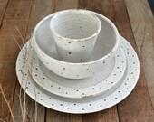 4 Piece Dinner Setting - Dinnerware - Dinnerware Set - Pottery Dinnerware - Ceramic Dinnerware