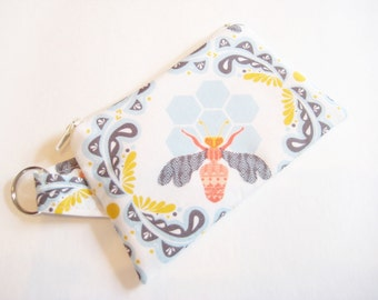 Honeybee Coin Purse, Small Pouch, Bee Lover Gift