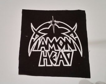 DIAMOND HEAD PATCH - Black Canvas Heavy Metal Patch