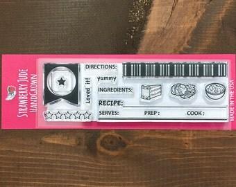 Recipe Card Stamp Set