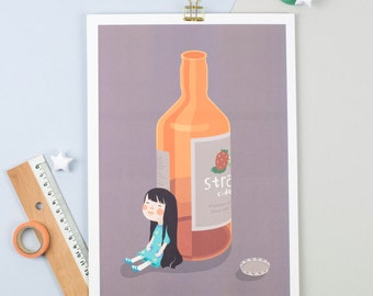 Lily have a drink A4 Print