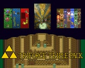 Video Game Art Print - The Legend of Zelda A Link to the Past - Super Nintendo Tribute