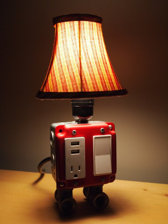 Vintage Table or Desk lamp - USB Charger & Lamp