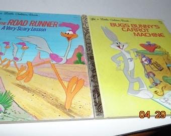 Two Vintage Little golden Books Bugs Bunny Road Runner 1970s