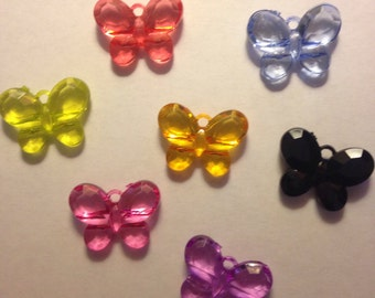Assorted Colors Butterfly Charms