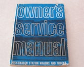 1964 VW Owner's Service Manual, Volkswagen Station Wagons and Trucks, Actual VW Publication