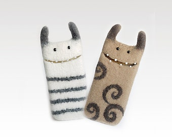 Wool case for Samsung Galaxy S2 / S2 HD LTE , Custom orders, Monster felt case, eco friendly phone cases, 100% wool