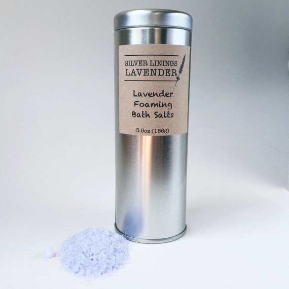 Foaming Lavender Bath Salts / Lavender Bath Salt / Lavender Bubble Bath / Calming Aromatherapy Bath / Lavender Bath Fizz / Moisturizing Bath