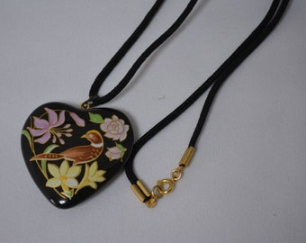Heart shaped necklace, Japanese costume jewelry