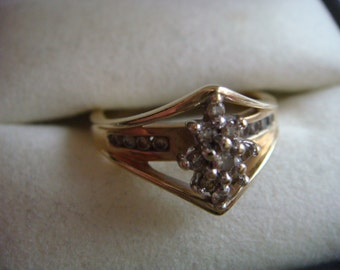 Gorgeous Diamond Cluster Engagement Ring