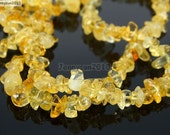 Natural Citrine Gemstone 5-8mm Freeformed Chip Beads 35''  Great For Jewelry Design
