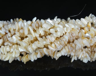 Natural White Sea Shell Gemstone 5-8mm Freeformed Chip Beads 35''  Great For Jewelry Design
