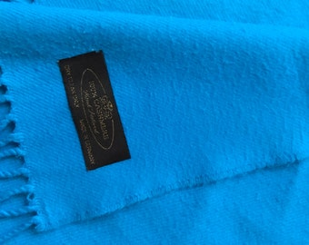 Cashmere Turquoise Scarf Vintage Germany
