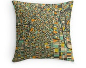 LOS ANGELES MAP, Throw pillow for your Modern Home Decor