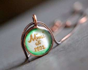 personalized mimi, est 2015, est 2014, mimi jewelry, mimi necklace, mimi gift, custom name pendant