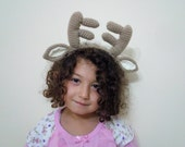 Crochet Reindeer Headband-Animal Headband-Ready to ship