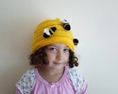 Bumble Bee Beanie Hat-Bumble Bee Infant-Adult Sizes-Any Size