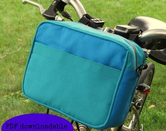PDF PATTERN ONLY, destination handle bar bag, bicycle bag, handlebar bag, sewing pattern, outdoor pattern, cycling pattern, sports sewing