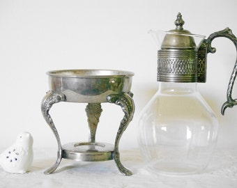 Vintage Coffee Warmer Carafe Silver Plated