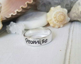 Sterling Silver Name Ring, 6mm wide, Personalized Name Ring, Personalized Mother Ring, Stacking Ring, Custom name ring, Name Ring, Stackable