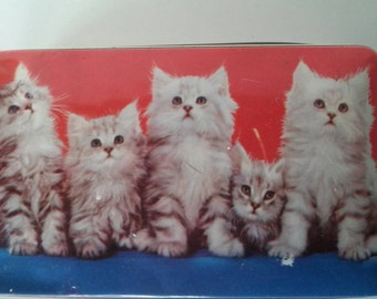 Cat Kitten Vintage Candy Tin