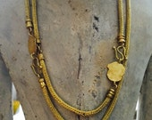 Exceptionally gorgeous hand woven classical necklace by ann biederman