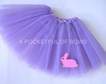 Easter Tutu Skirt, Toddler Easter Tutu,  Lavender Purple Tutu Skirt, Easter Bunny