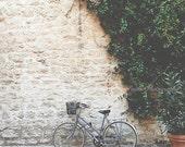 Bicycle photos, Paris travel photos, Parisian, Paris home decor, Paris wall art, French, Rustic, Romance, square photo, gift under 50