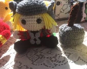 Crocheted Thor