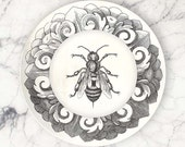 Bee No.1 melamine plate