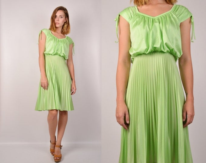 70's Mint Green Sun Dress vintage
