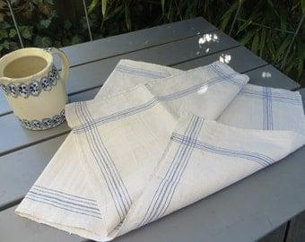 Free Shipping Towel   Handwoven Linen  Blue  Stripes Danish    Kitchen  Dish Cloth Napkin  Wrap  Table Garden  Runner   Home Linen Denmark