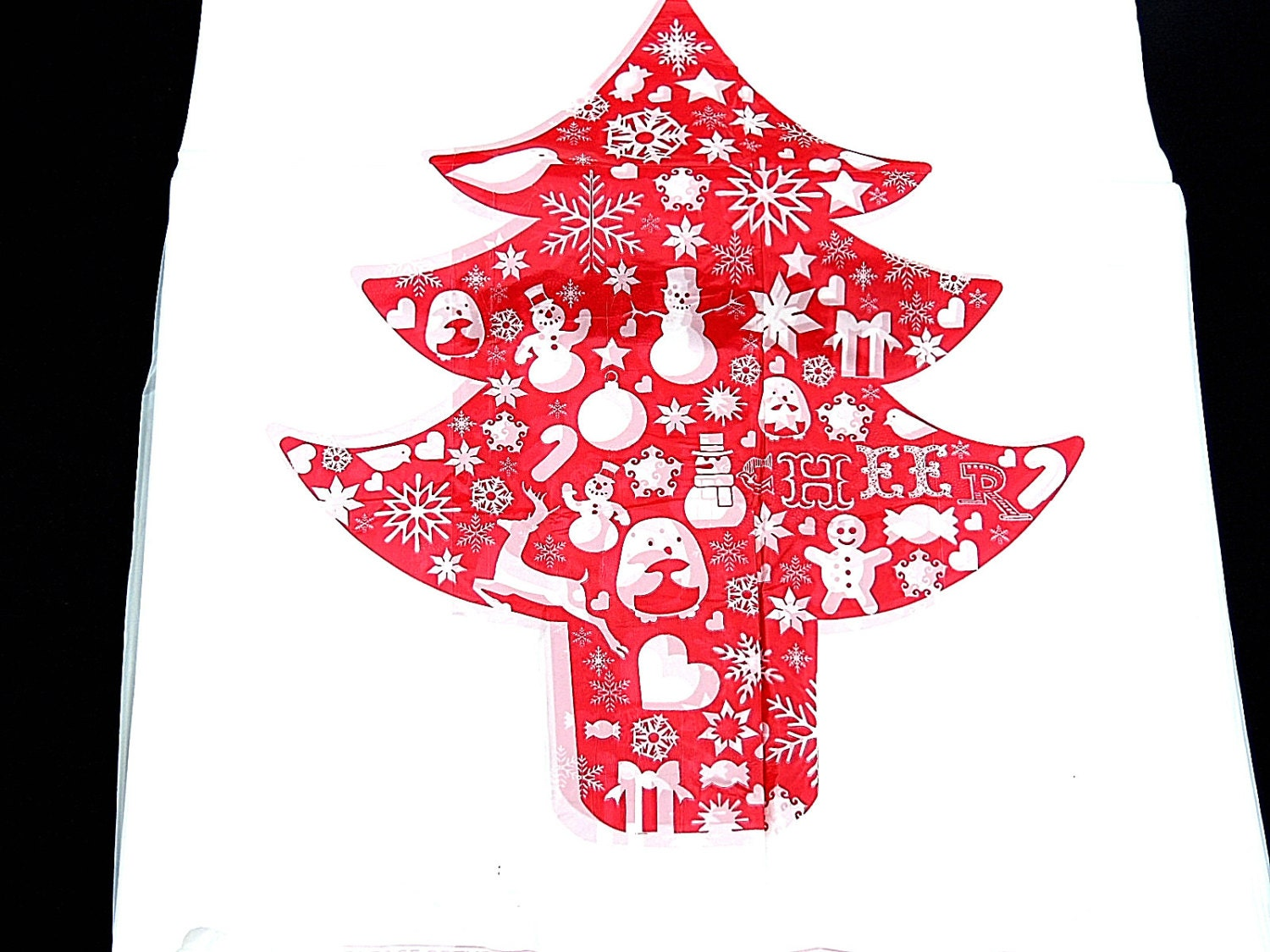 100 11 x 21 inch christmas tree plastic merchandise bags for Holiday t shirt bags