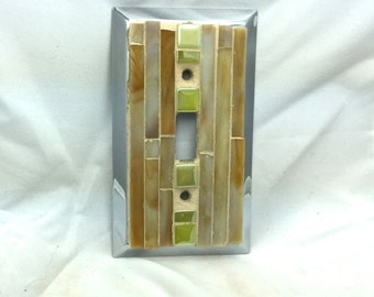 Single mosaic switch plate