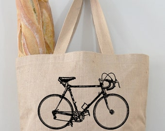 Bicycle Tote Bag, Market Bag, Totes by Fiber and Water