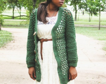 The Edgehill Crochet Cardigan Pattern. Instant Download!