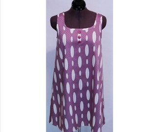 Retro 1960s New-Vintage 1969 A-Line Mini-Dress Size 6