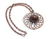 Vintage Rebajes Copper Coils Pendant Necklace