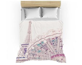 Paris Carousel Duvet Cover - Twin, Queen or King sizes - Paris bedding, Carousel bedding