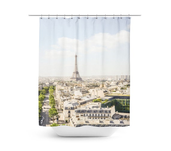 Paris Eiffel Tower Shower Curtain Paris Themed Shower