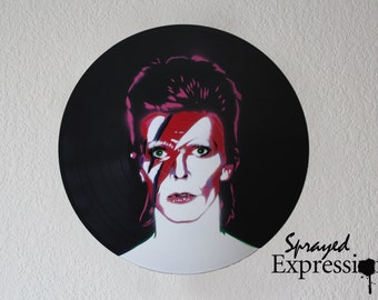 David Bowie Vinyl Record Painting