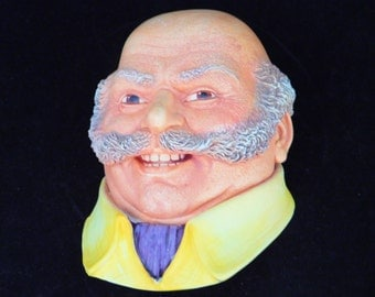 Chalkware, Chalk Head, Mine Host, Made in England 1982