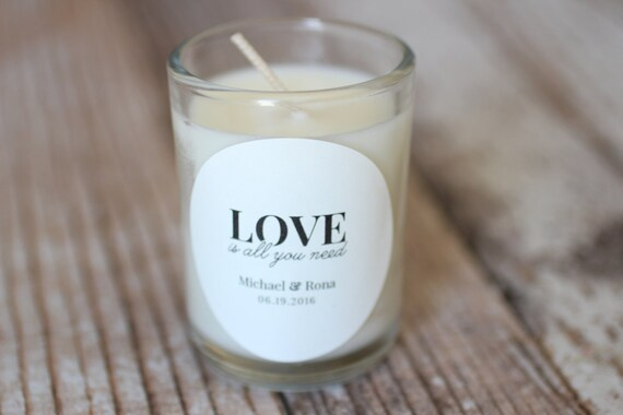 Wedding Favors//Soy Candle// Custom Size// unique candle party favor//