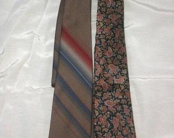 vintage neck ties Givenchy Don Loper designer polyester neckties
