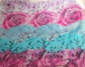 Stunning Soft & Silkie Scarf-Pink n Blue Floral-SC261