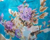 Stunning Soft & Silkie Scarf-Blue Floral-SC266