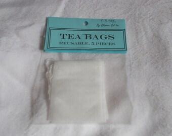 Reusable Tea Bags- 5 Pieces per Bag
