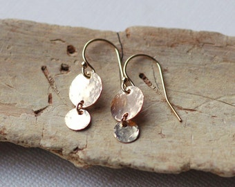 Little Dangle Earrings, Simple Gold Earrings, Silver Dangle Earrings, Everyday Minimal Earrings, Dainty Earrings, Rose Gold Drop Earrings