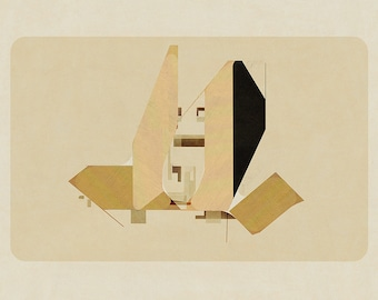 Abstract composition 770 - abstract geometric - minimalism - architecture - 84 x 60 cm - A1 - Limited edition